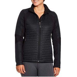 CALIA Full Zip Puffer Hybrid Jacket Black Size Sm